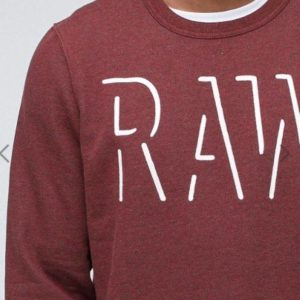 Φουτερ G-Star Raw Vasif Sweat Bordeaux