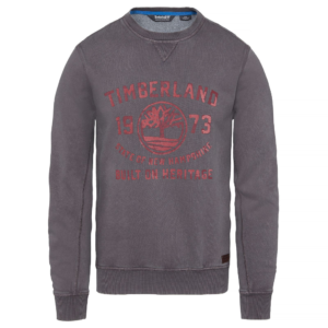 Φούτερ Timberland Hill Crew Neck Sweater – γκρι
