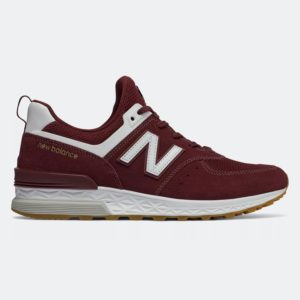 New Balance 574 Sport MS574FCW Burgundy Red, μπορντό