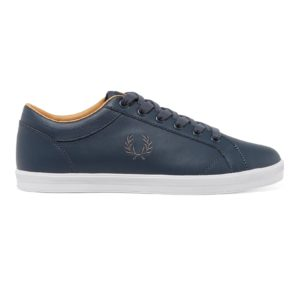 Fred Perry Baseline Leather B3058 738 Dark Airforce μαύρο