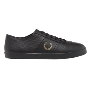 Fred Perry x Miles Kane Perforated Leather Tennis Shoe