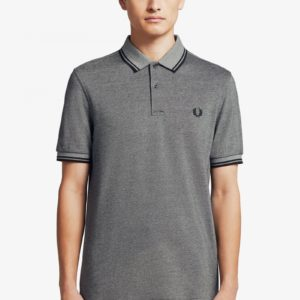 Fred Perry Twin Tipped Classic Πόλο M3600 J77 Anchor Black