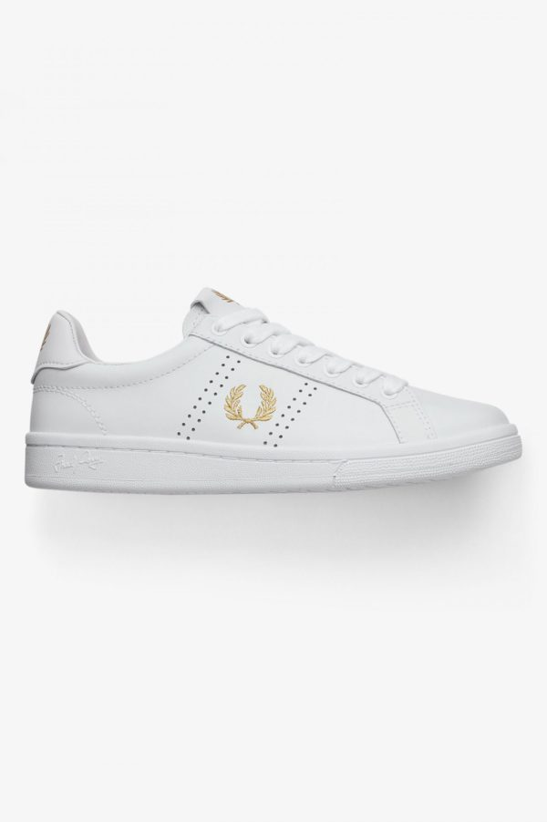 Casual Δερμάτινα Παπούτσια Fred Perry B721 WHITE