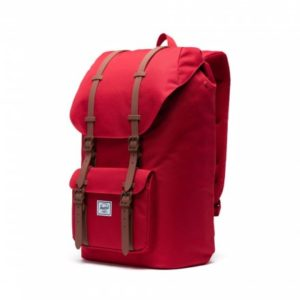 Backpack Herschel Little America 10014-03271-OS – 600D Poly Red/Saddle Brown
