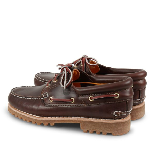 Timberland Authentic Handsewn Boat Shoe MD Brown Full Grain TB 030003 214