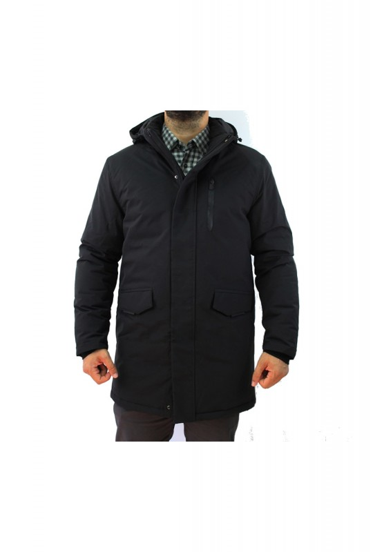 Μπουφάν Dors Long Elegant Padded Jacket - Black