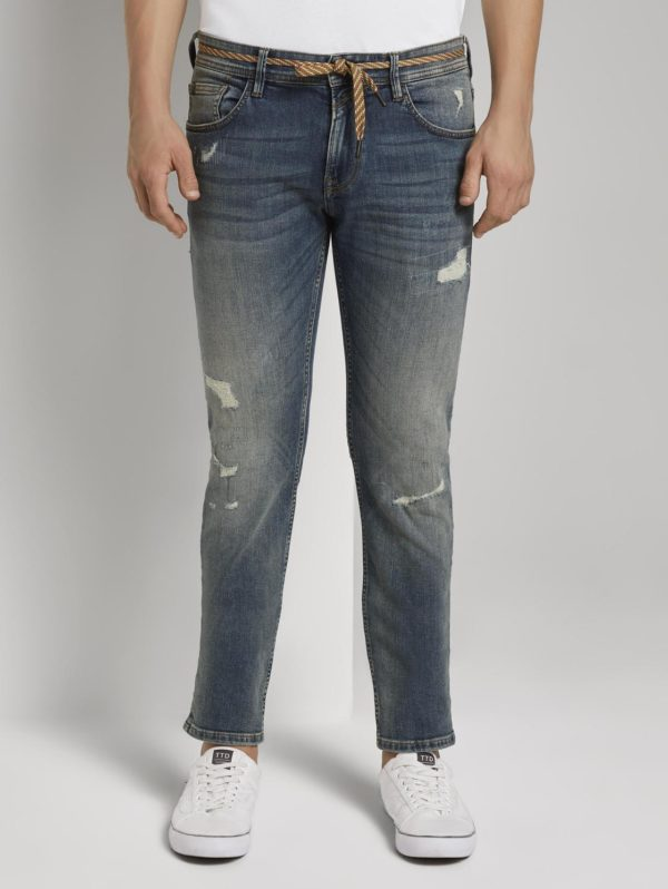Παντελόνι Jean Tom Tailor  Piers Slim Jeans - Destroyed Look 1020493 10285 - μπλε