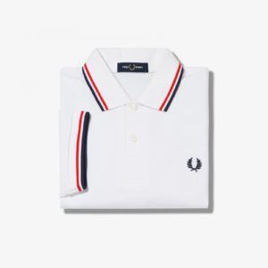 Fred Perry Twin Tipped Fred Perry Polo Shirt M3600-748 λευκό