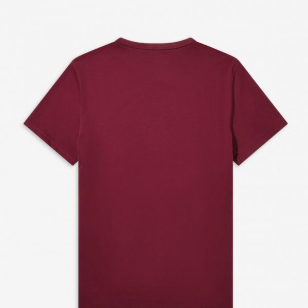 The Fred Perry Tipped Graphic Tee (M8536-106) Maroon