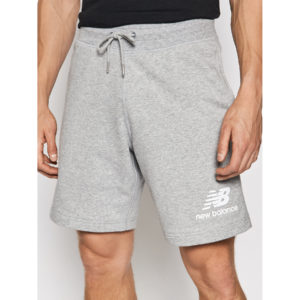New Balance Essentials Stacked Logo Short MS03558 AG γκρι