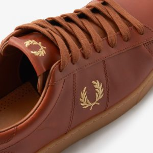 Fred Perry Spencer Brown Leather B2327 448