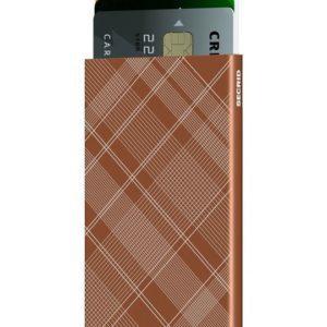 Θήκη καρτών Secrid Cardprotector Laser Tartan Rust